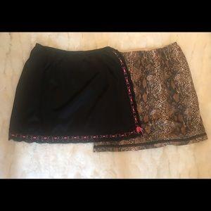 Vintage lingerie! Bundle of two sexy half-slips.